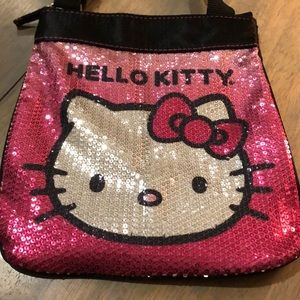 HELLO KITTY pink sequin mini bag, VGUC